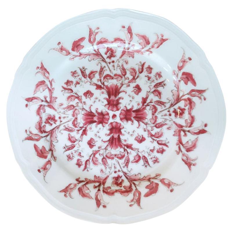 Richard Ginori Babele Rosso Red Bread Plate