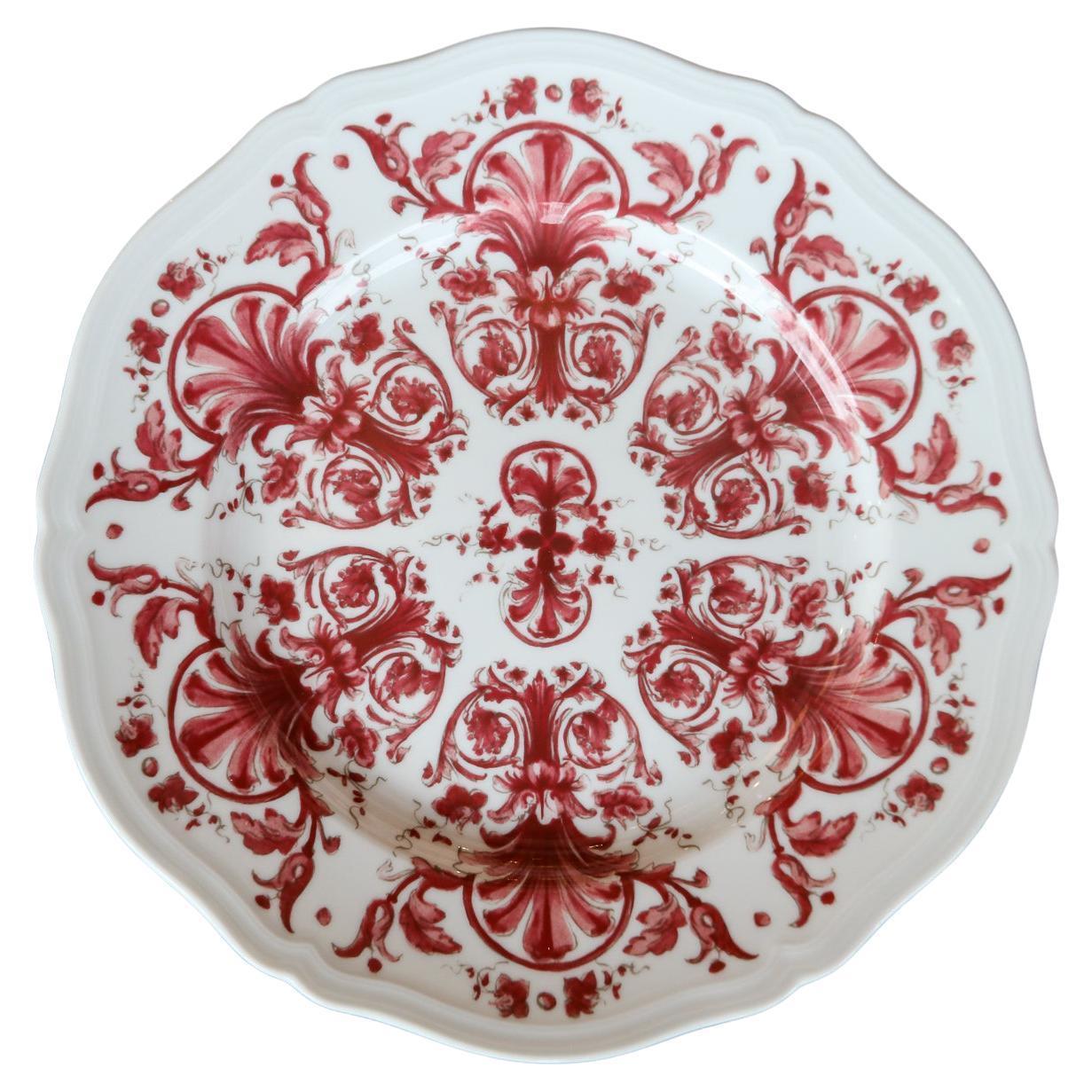 Richard Ginori Babele Rosso Red Dinner Plate
