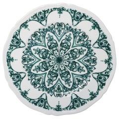 Richard Ginori Babele Verde Green Charger Plate