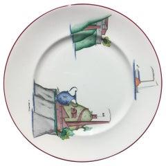 Richard Ginori Bone China Plate Porcelain, 1990, Italy