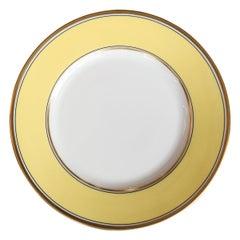 Richard Ginori Contessa Citrino Yellow Dessert Plate