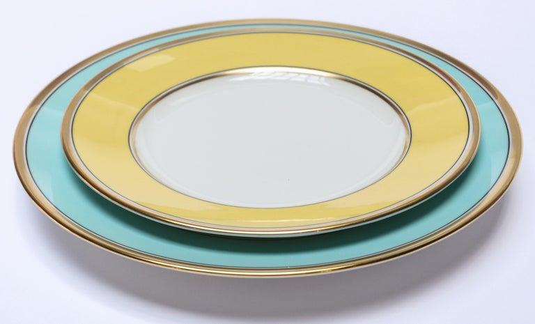 Italian Richard Ginori Contessa Indaco Blue Dinner Plate For Sale