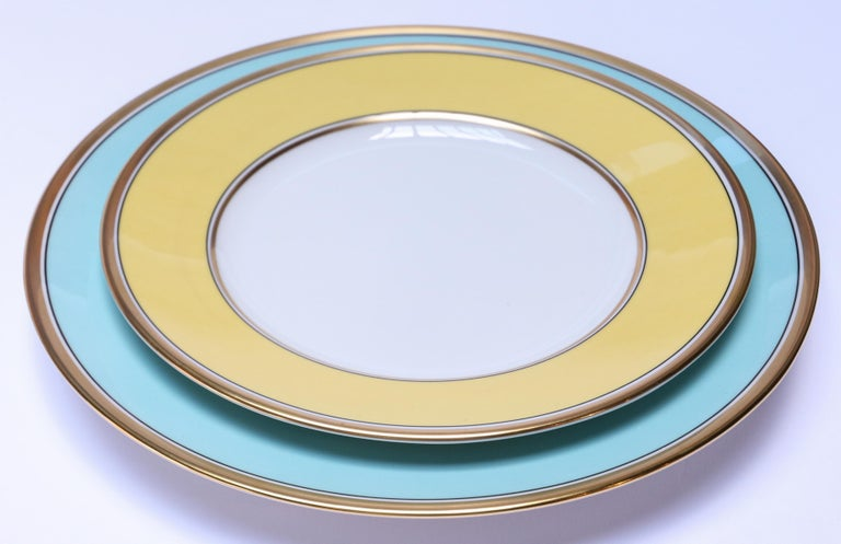 Richard Ginori Contessa Indaco Blue Dinner Plate In New Condition For Sale In Los Angeles, CA