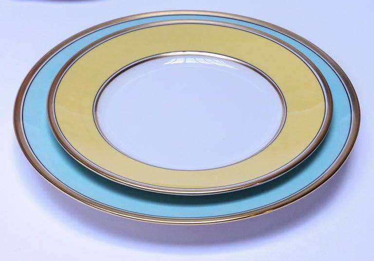 Contemporary Richard Ginori Contessa Indaco Blue Dinner Plate For Sale