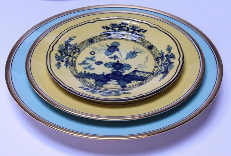 Porcelain Richard Ginori Contessa Indaco Blue Dinner Plate For Sale
