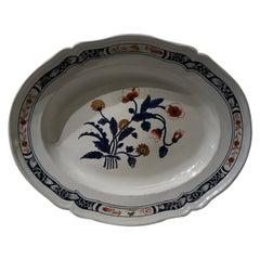 Richard Ginori Doccia Late 18th Century Porcelain Tray Underplate in Red Blue
