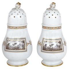 """Richard Ginori """"Fiesole"""" Pattern Salt and Pepper Shakers"""
