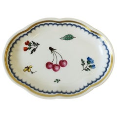 Designer Vintage Richard Ginori Fruit and Flower Italian Jewelry Dish