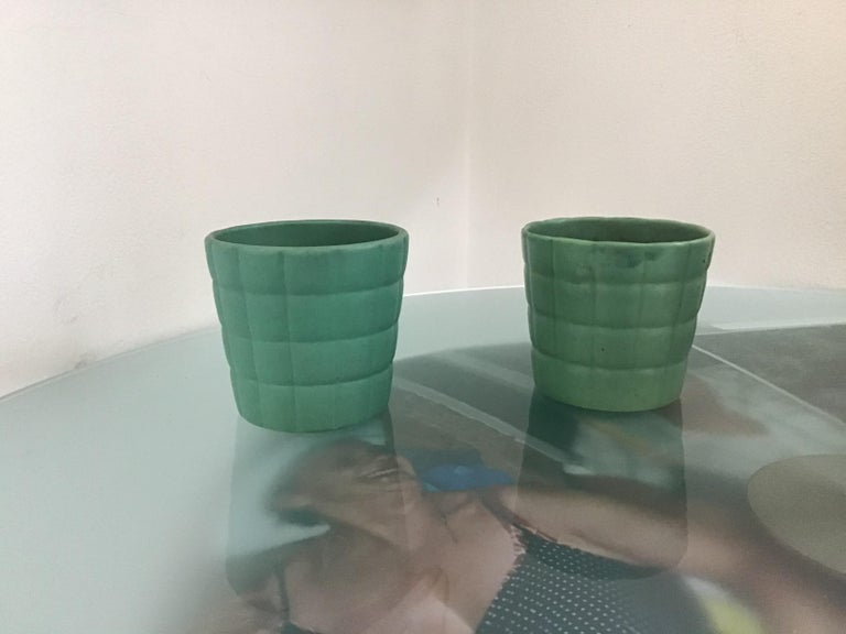 Richard Ginori Giovanni Gariboldi couple vase ceramic, 1950, Italy.