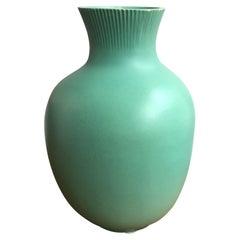 Richard Ginori Giovanni Gariboldi Vase Green Ceramic, 1950, Italy