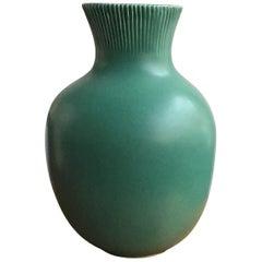 Richard Ginori Giovanni Gariboldi Vase Green Ceramic 1950 Italy