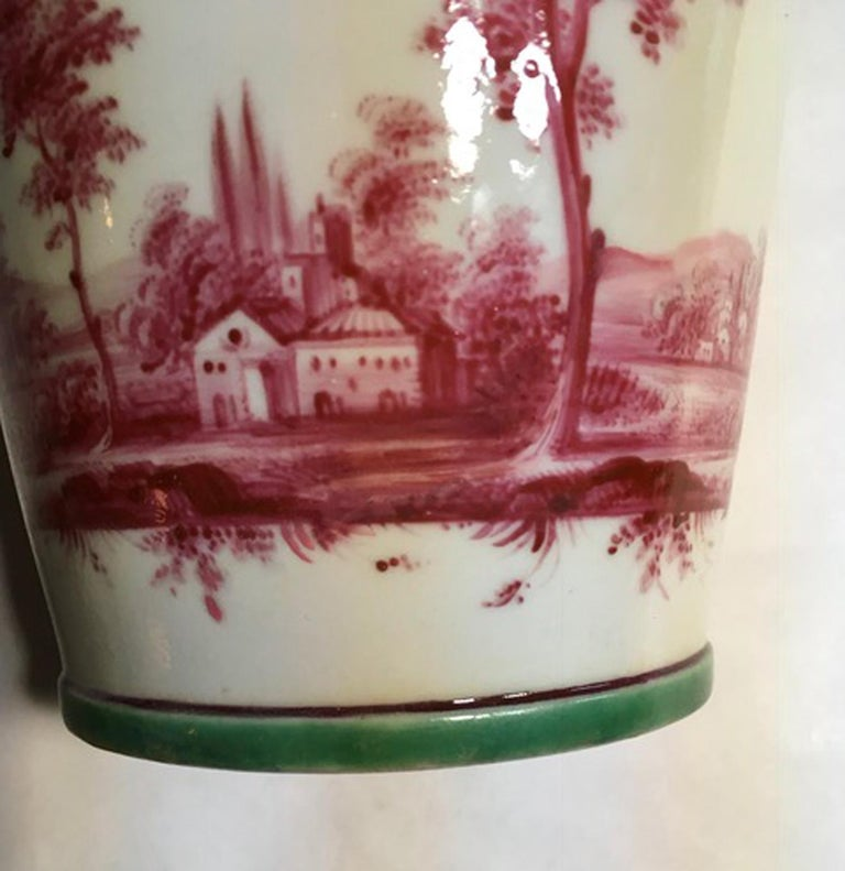 Richard Ginori Mid-18th Century Porcelain Cachepot with Landscape Painting For Sale 13