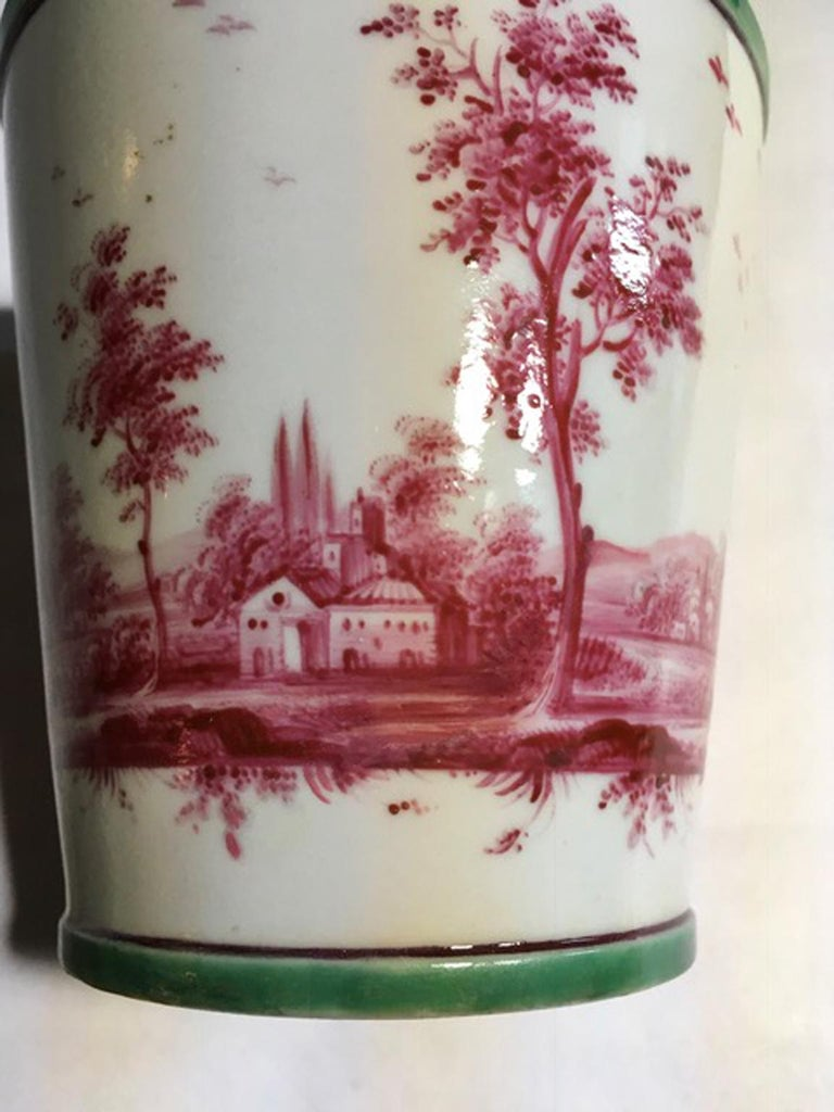 Richard Ginori Mid-18th Century Porcelain Cachepot with Landscape Painting For Sale 14