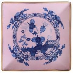 Richard Ginori Oriente Italiano Azaelea Pink Vide Poche Squared Plate