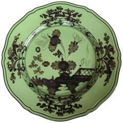 Richard Ginori Oriente Italiano Bario Green Dinner Plate