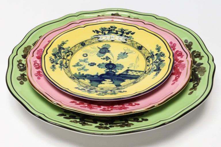 Contemporary Richard Ginori Oriente Italiano Citrino Yellow Bread Plate For Sale