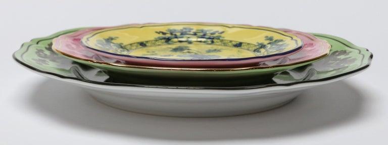 Porcelain Richard Ginori Oriente Italiano Citrino Yellow Bread Plate For Sale