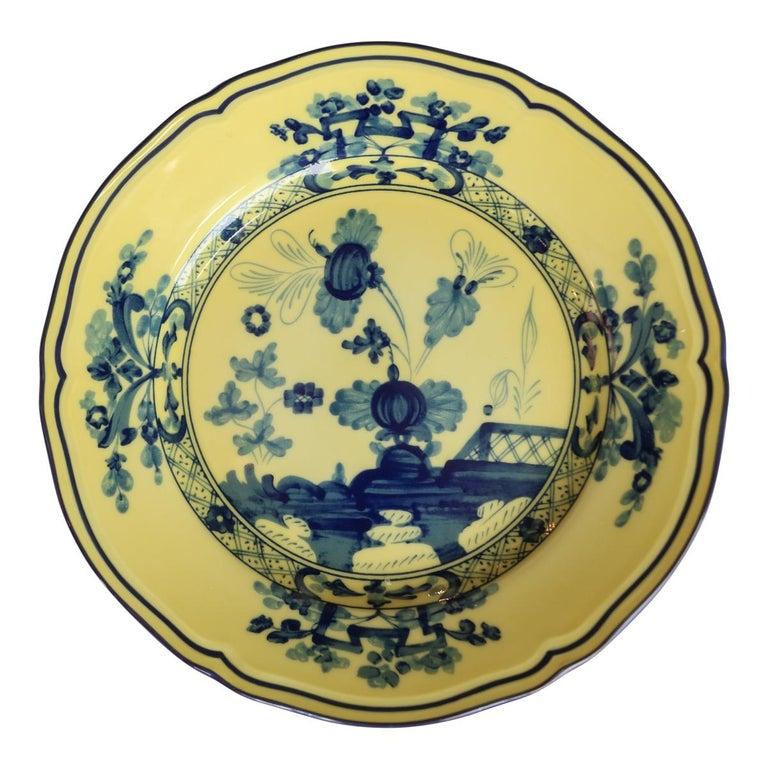 Richard Ginori Oriente Italiano Citrino Yellow Bread Plate For Sale