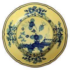 Richard Ginori Oriente Italiano Citrino Yellow Bread Plate