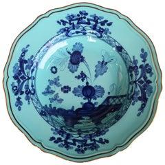 Richard Ginori Oriente Italiano Iris Blue Soup Plate