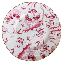 Richard Ginori Oro di Doccia Magenta Pink Dessert Plate