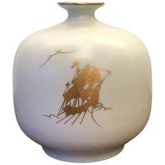 "Richard Ginori ""Pittoria Di Doccia"" Porcelana Vase 1940 Italy"