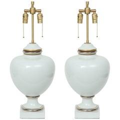 Richard Ginori White Porcelain Lamps