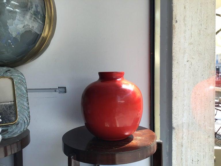 Richard Ginori Vase Giovanni Gariboldi Ceramic, 1950, Italy For Sale 4
