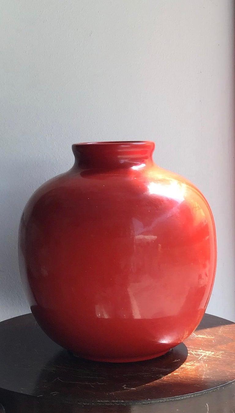 Richard Ginori Vase Giovanni Gariboldi Ceramic, 1950, Italy For Sale 5