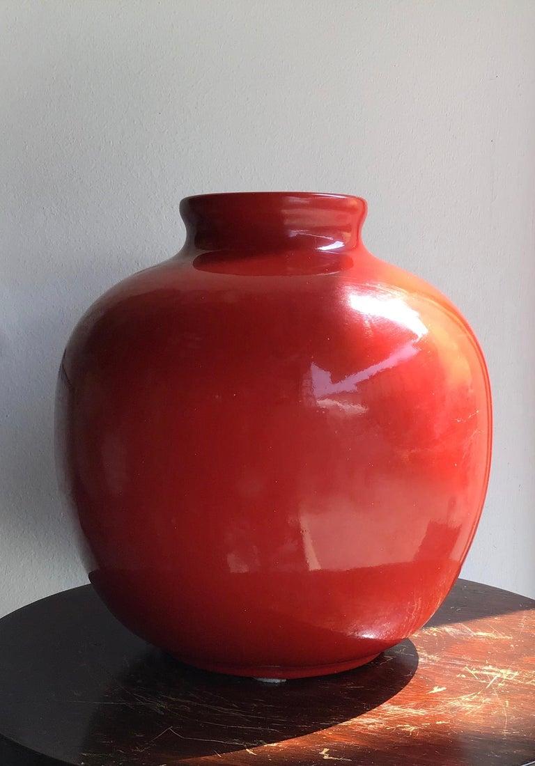 Richard Ginori Vase Giovanni Gariboldi Ceramic, 1950, Italy For Sale 7