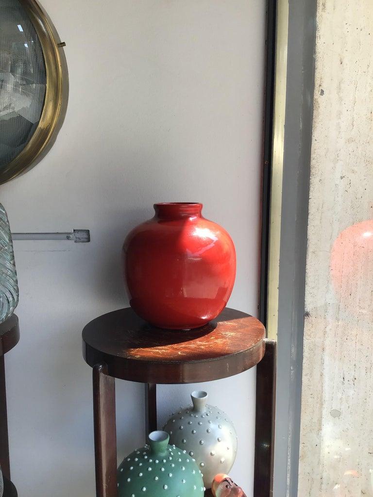 Italian Richard Ginori Vase Giovanni Gariboldi Ceramic, 1950, Italy For Sale