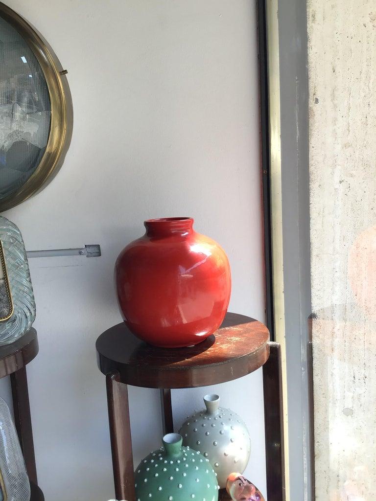 Richard Ginori Vase Giovanni Gariboldi Ceramic, 1950, Italy In Excellent Condition For Sale In Milano, IT