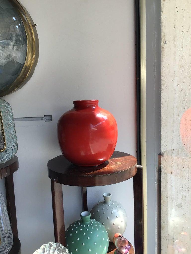 Richard Ginori Vase Giovanni Gariboldi Ceramic, 1950, Italy For Sale 1