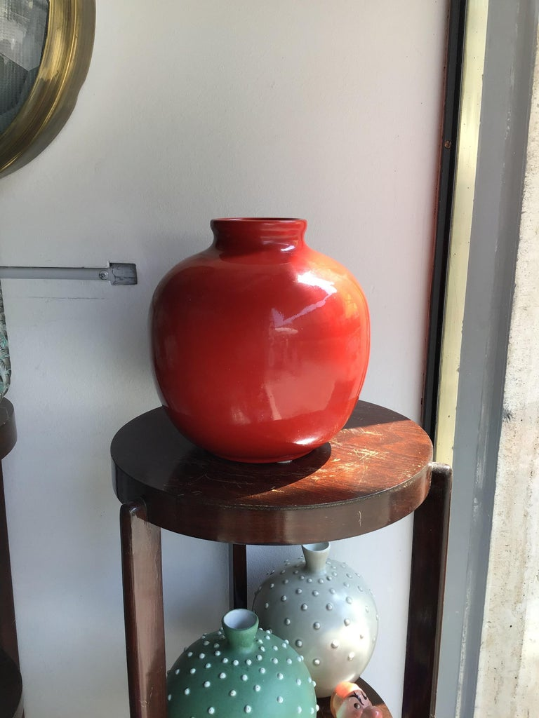 Richard Ginori Vase Giovanni Gariboldi Ceramic, 1950, Italy For Sale 2