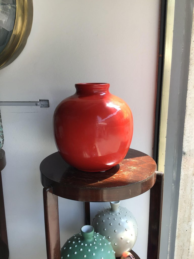 Richard Ginori Vase Giovanni Gariboldi Ceramic, 1950, Italy For Sale 3