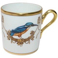Richard Ginori Voliere Martin-Pecheur Coffee Cup