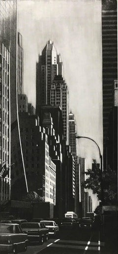 57th St. Looking East (View down Sixth Ave/ Fuller BLDG, the Ritz and IBM seen)