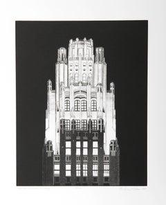 """American Radiator Building"" B&W Etching by Richard Haas"
