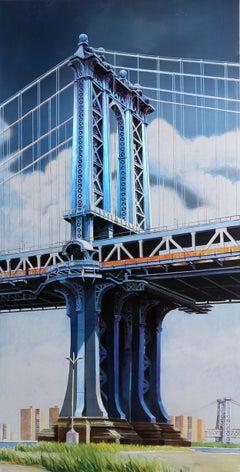 Manhattan Bridge, Silkscreen on Aluminum by Richard Haas