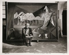 """Picasso Sitting"", Photograph by Richard Ham 1945"