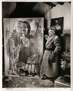 """Picasso with Painting"", Photograph by Richard Ham 1945"