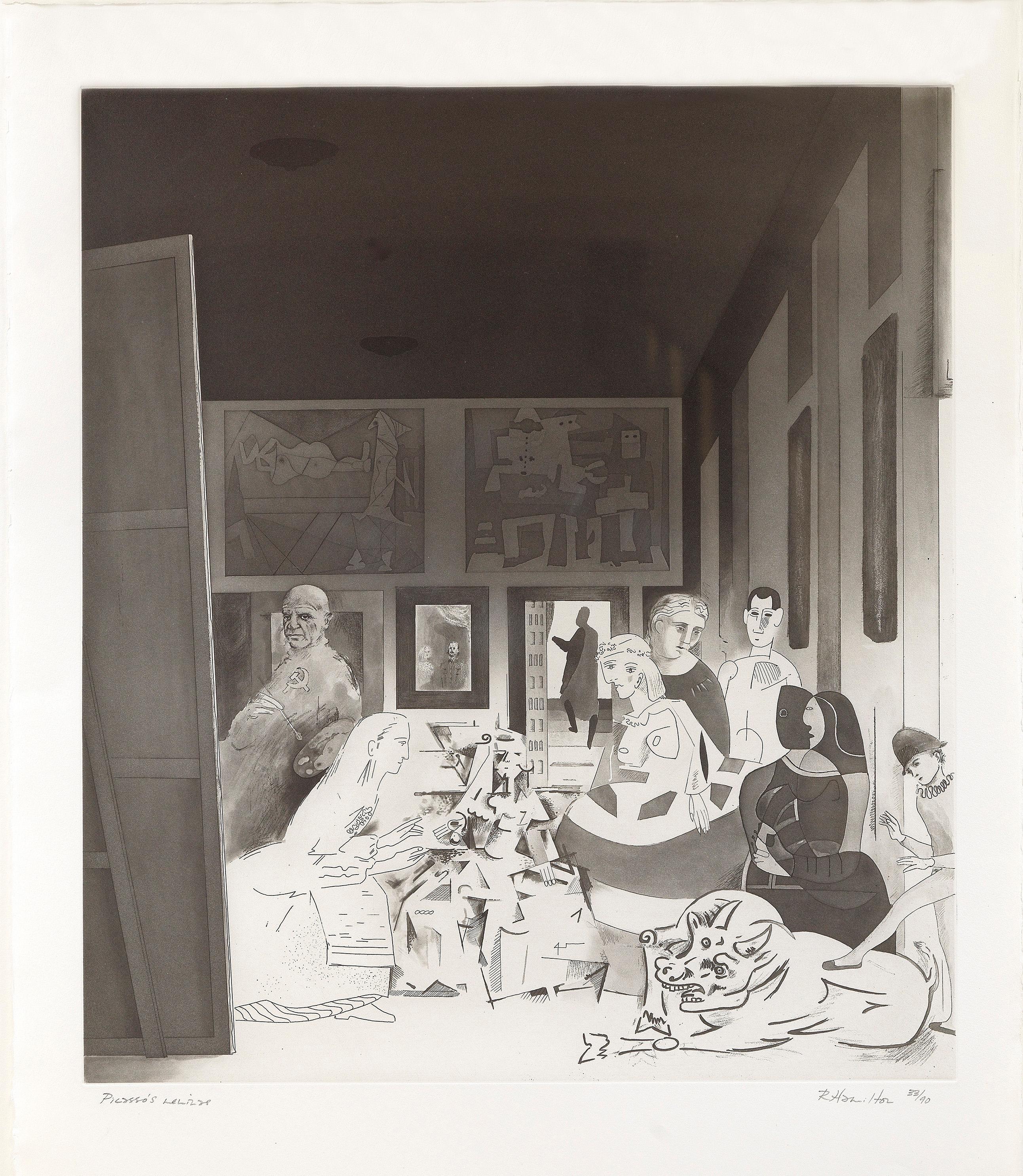 Picasso's Meninas - Richard Hamilton, Aquatint, Pop Art, Contemporary Art, Print