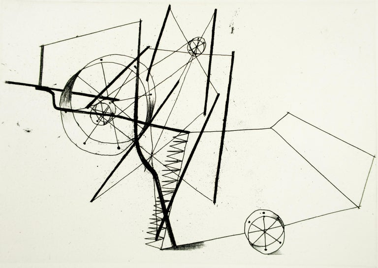 Reaper (a) Richard Hamilton geometric abstraction etching - Abstract Print by Richard Hamilton