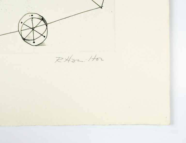 Reaper (a) Richard Hamilton geometric abstraction etching For Sale 1