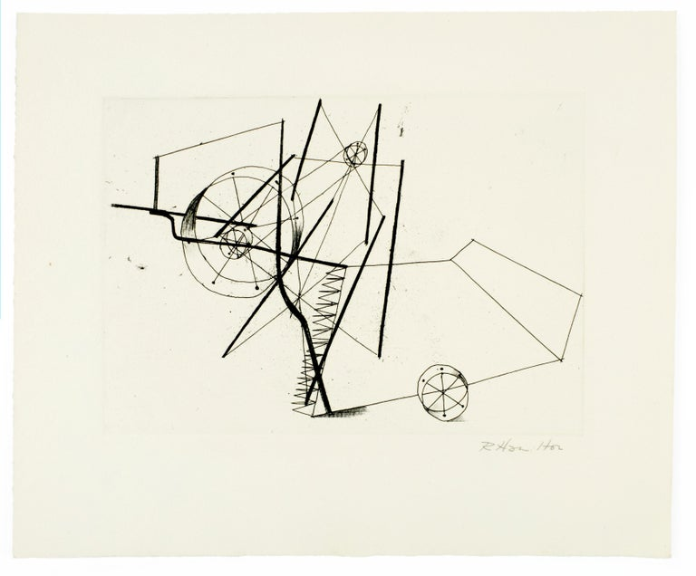 Reaper (a) Richard Hamilton geometric abstraction etching - Print by Richard Hamilton