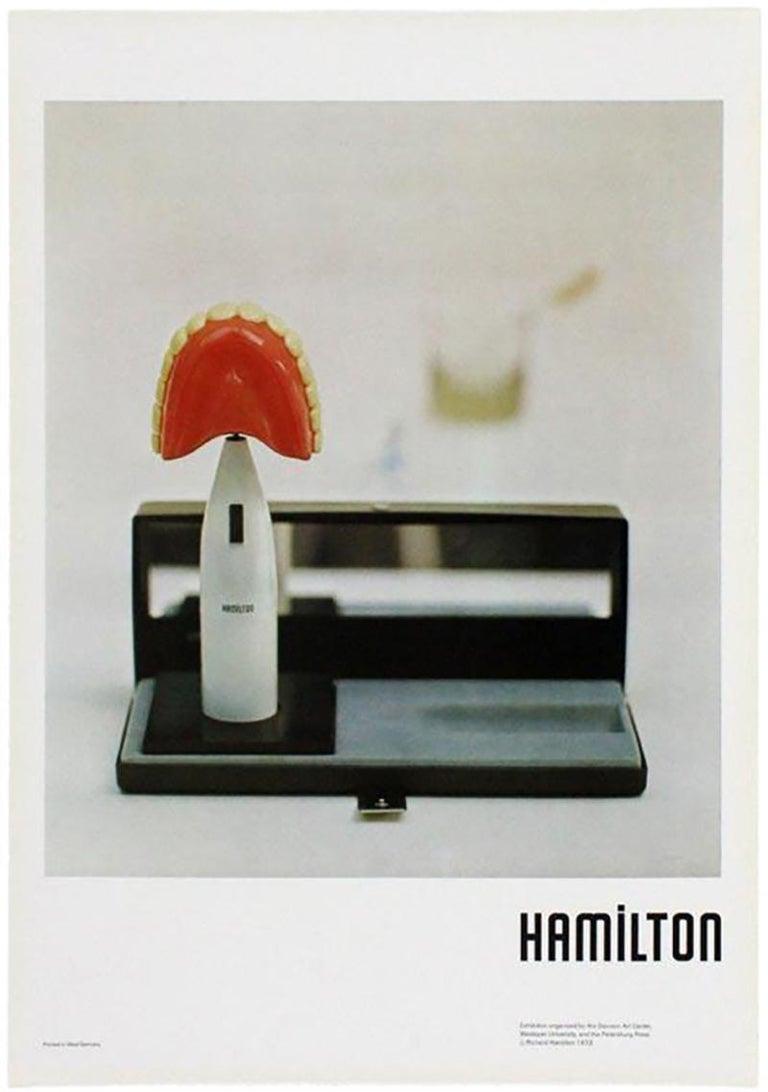 Vintage Richard Hamilton poster Davison Art Center 1973 (The Critic Laughs 1973) - Modern Print by Richard Hamilton