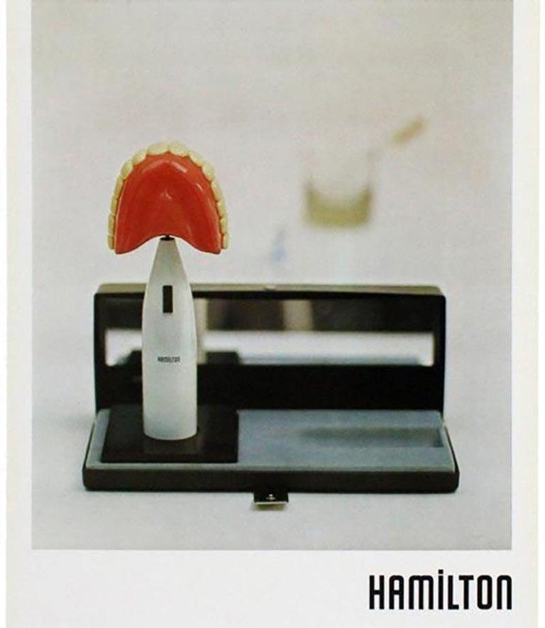 Vintage Richard Hamilton poster Davison Art Center 1973 (The Critic Laughs 1973) - Print by Richard Hamilton