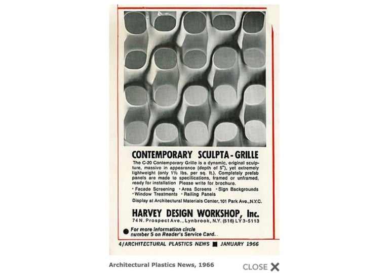 Richard Harvey Sculpta-Grille Model C-20 Freestanding Room Divider, 1959   For Sale 13