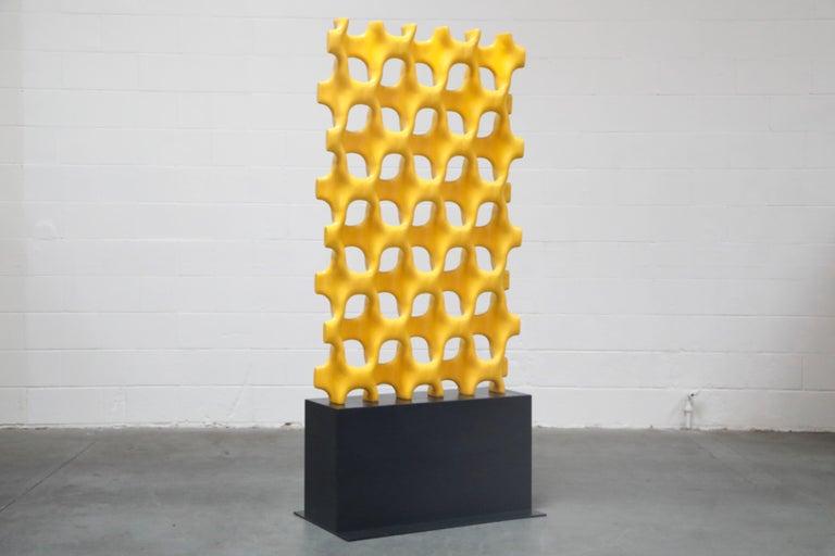 Mid-Century Modern Richard Harvey Sculpta-Grille Model C-20 Freestanding Room Divider, 1959   For Sale