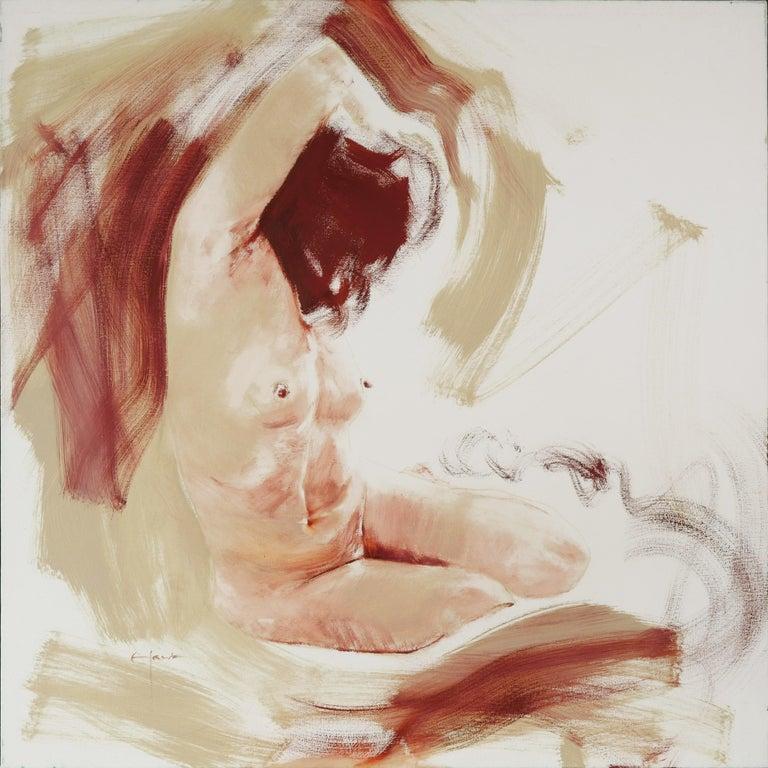 Richard Hawk Nude Painting - Maelstrom (Seated Female Nude)
